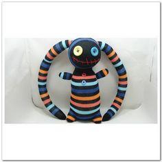 Handmade Sock Pirate Stuffed Animal Doll Baby by supersockmonkeys, $11.99