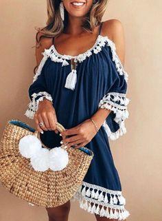 summer-casual-spaghetti-strap-off-the-shoulder-mini-dress-with-tassel