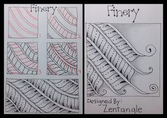 Zentangle : Tangle Pattern : Finery