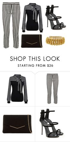 """""""Striped Top, Striped Pants"""" by realitybytes85 ❤ liked on Polyvore featuring Ann Demeulemeester, KoKo Couture, Giuseppe Zanotti and Buccellati"""