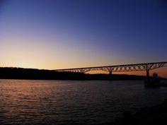 Twilight  Walkway over the Hudson Poughkeepsie NY