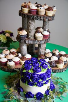 Rustic Cupcake Stand by SadyLadyCrafts on Etsy, $70.00