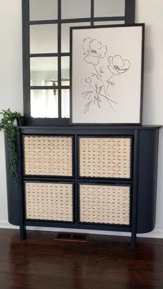 Diy Furniture Renovation, Ikea Furniture Hacks, Diy Furniture Projects, Upcycled Furniture, Furniture Design, Furniture Storage, Ikea Hacks, Ikea Storage Cabinets, Diy Cabinets