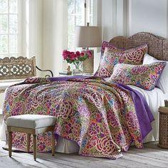 Jewel Garden Quilt and Sham