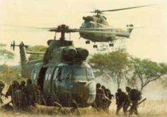 During the bush war period, South Africa m. Once Were Warriors, English Electric Canberra, Airborne Army, Army Pics, South African Air Force, Army Day, Defence Force, Military Helicopter, Military Photos
