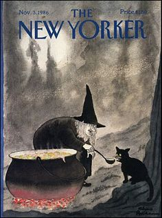 New Yorker magazine November 3 1986 Charles Addams Halloween witch black cat NM The New Yorker, New Yorker Covers, Retro Halloween, Fall Halloween, Happy Halloween, Vintage Halloween Posters, Halloween Costumes, Halloween Icons, Halloween Clothes