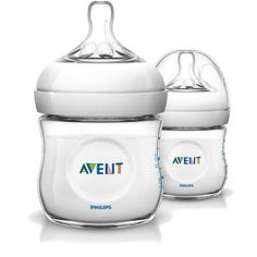Philips Avent 4-ounce Natural Feeding Bottle, White