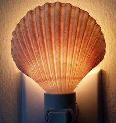 Seashell Night Light Night Light Shell by NatalieHaganDesigns