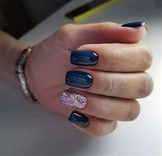 39 Trendy Fall Nails Art Designs Ideas To Look Autumnal & Charming - autumn nail art ideas fall nail art short nail art designs autumn nail colors dark nail designs coffin nails Square Nail Designs, Fall Nail Art Designs, Acrylic Nail Designs, Dark Nail Designs, Square Acrylic Nails, Square Nails, Dark Nails, My Nails, No Chip Nails