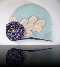 Recycled fabric hat. Want.