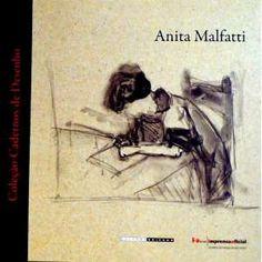"""ANITA MALFATTI – Livro totalmente ilustrado com reproduções de desenhos pessoais de Anita. """"Os cadernos têm acompanhado os artistas por toda a história. Eles reúnem aspectos pouco conhecidos de sua produção..."""" ff - 680g; 23x23 cm; 198 págs. -"""