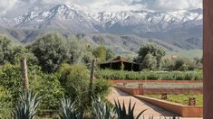 Villa Aza - Marrakech Exclusive and secluded retreat 30km South of Marrakech with spectacular views of the Atlas mountains. The estate is fully staffed, comfortably accommodating 18 people in 4 suites and 5 villas. Heated pool, tennis court and spa.   #villanovo #luxury #villa #luxury #pool #garden #mountain #atlas #africa #morocco #marrakech #green #snow