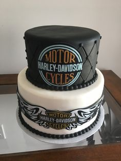 Harley Davidson theme cake Motorcycle Birthday Cakes, Motorcycle Wedding, Dad Birthday Cakes, Birthday Parties, Harley Davidson Cake, Harley Davidson Birthday, Birthday Shout Out, Lets Celebrate, Themed Cakes