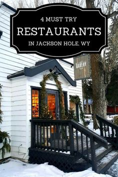 Discover 4 must try restaurants in Jackson Hole, Wyoming, including a brewpub and a steak and game house. Eat your way across Jackson Hole! Wyoming Vacation, Yellowstone Vacation, Yellowstone Park, Tennessee Vacation, Jackson Hole Restaurants, Jackson Hole Wyoming, Cody Wyoming, Wyoming State, Jackson Hole Tram