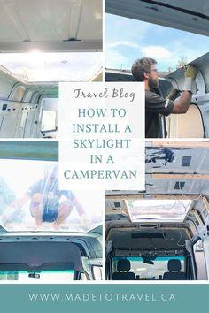 Sprinter Van Conversion, Camper Van Conversion Diy, Diy Skylight, Step Van, Through The Roof, Campervan Interior, Van Living, Roof Rack, Happy Campers
