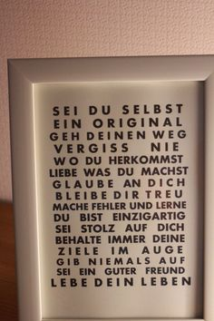 Hier biete ich einen Schriftzug an, der in jedes Haus oder jede Wohnung passt. … Here I offer a lettering that fits in every house or apartment. The ideal gift! Just get the right frame …. Delivery is without … Gifts For Friends, Gifts For Kids, Holiday Break, Mom Day, Just Giving, Best Dad, You Are The Father, Birthday Presents, Xmas Gifts