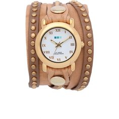 La Mer Collections Bali Stud Wrap Watch found on Polyvore
