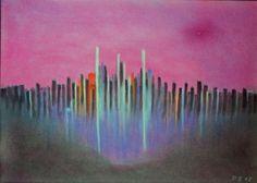 Skyline, Pastell auf Papier, BxH 42x30cm