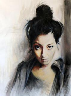 Emiliano Capotorto:  Untiled (Leandra)oil on canvas 70x50cm