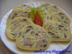 Smakowy Raj - blog kulinarny: Roladki serowe z pieczarkami (i szynką)