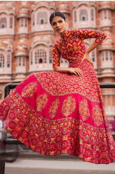 Indian Gowns, Indian Attire, Indian Outfits, Indian Bridesmaids, Bridesmaid Outfit, Anarkali Gown, Red Lehenga, Indian Designer Outfits, Designer Dresses