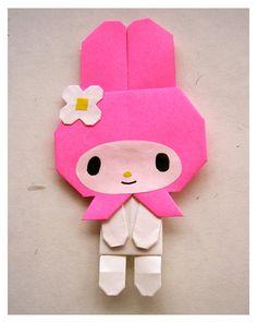 my melody origami  マイメロディ