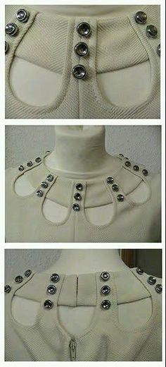 Designer Planet: Stylish Front Neck Designs for Suits Neck Designs For Suits, Neckline Designs, Kurti Neck Designs, Dress Neck Designs, Blouse Designs, Sleeve Designs, Fashion Details, Diy Fashion, Womens Fashion