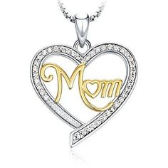 Gift For Mother Mother's Day Gift Necklace Pendant Jewelery For Mom Heart NEW #AdoGlo