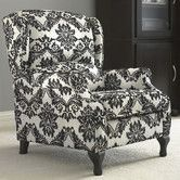 I don't know why but I absolutely love wing back chairs that recline.  Found it at Wayfair - Wing Recliner