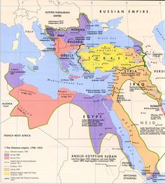 "thelandofmaps: "" The Ottoman Empire, 1798-1923 [1590x1773] CLICK HERE FOR MORE MAPS! thelandofmaps.tumblr.com """