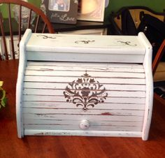 Shabby Chic Bread Box by 2BHeartMade on Etsy, $40.00