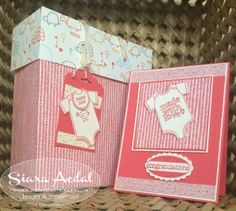 Siara Sweet Sensations: Team Stamp It's Designer Series Paper . Stmapin Up gift set. Card and gift box. Blog Hop. MAde with love stamp set. Sweet lil things designer paper