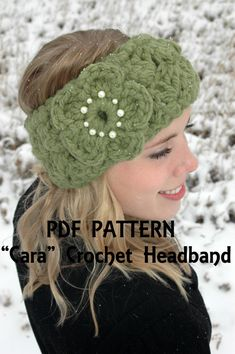Crochet Pattern for Cara Headband/Earwarmer by HomeSweetHomebodies, $5.00