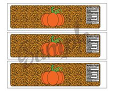 Harvest/Autumn/Halloween Party Water bottle Label by TionneStrife, $1.99