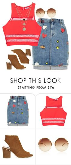 """""""mixx"""" by kapreece on Polyvore featuring River Island, T By Alexander Wang, Office, Linda Farrow and LowLuv"""