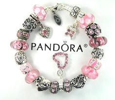 1779665a7 Authentic Pandora Silver Charm Bracelet with European Charms Best Mom  daughter #Pandoralobsterclaspclaw #European Silver
