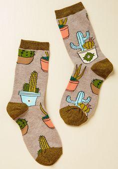 Prickly Company Socks, #ModCloth
