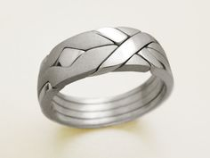 Unique Puzzle Rings by PuzzleRingMaker.Com by PuzzleRingMaker Sterling Silver Rings, Gold Rings, Puzzle Ring, Jewelry Rings, Unique Jewelry, Jewelry Art, Jewellery, Ring Bracelet, Bracelets