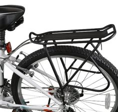 """Ibera PakRak Bicycle Touring Carrier Plus+, Frame-Mounted for Heavier Top & Side Loads, Height Adjustable, Fender Board, for 26""""-29"""" Frames"""