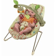 Fisher-Price - Cozy Cocoon Bouncer, Woodsy Friends
