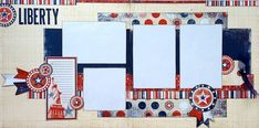 Liberty Two Page Scrapbook Layout Kit on Etsy, $10.00