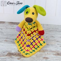 Looking for your next project? You're going to love Scrappy the Happy Puppy Security Blanket by designer oneandtwoco. - via @Craftsy