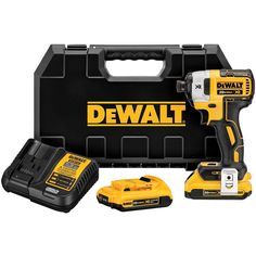 DEWALT XR Max Variable Speed Brushless Cordless Impact Driver at Lowe's. The 20 V MAX XR brushless In. impact driver is compact for fitting in tight spaces and increasing productivity. Three LED lights make Cordless Drill Reviews, Cordless Hammer Drill, Home Depot, Driver Tool, Drill Driver, Milwaukee, Dewalt Drill, Dewalt Tools, Shopping
