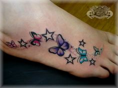 Frog Tattoos Designs On Foot | BUTTERFLYS AND STARS by ~state-of-art-tattoo on deviantART