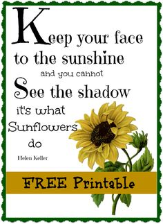 #Sunflower free printable