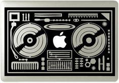 MacBook DJ vinyl Sticker