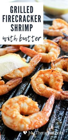 Grilled shrimp with sriracha AND Frank's hot sauce! This summertime favorite is GRILLED FIRECRACKER SHRIMP and it's perfect for a 4th of July snack or a pescatarian main dish for a summer cookout! Melted butter and hot sauce are all you need for this utterly delicious easy shrimp appetizer. via @howertonhastings Shrimp Appetizers, Shrimp Pasta Recipes, Seafood Recipes, Spicy Grilled Shrimp, Baked Shrimp, Firecracker Shrimp, Sweet Shrimp, Low Carb Protein, Chili Garlic Sauce
