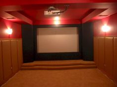 Home theater karaoke stage setup  I want this in my house someday!