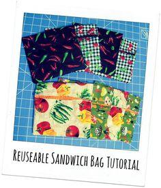 Reusable Sandwich Bag Tutorial (guest post from Craftopotamus) #backtoschool #gogreen
