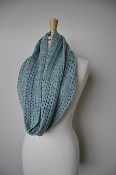 """""""April Showers"""" cowl by Meg Strong  knit in """"MadelineTosh"""" Lace yarn  (Free pattern)"""